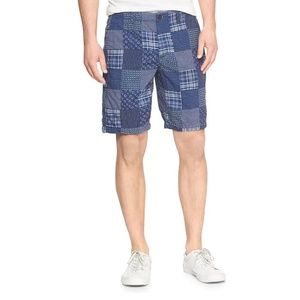 """Gap Mens 10"""" Lived-In Shorts in Patchwork Sz 35"""